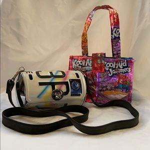 Littlearth license plate purse and kool-aid purse